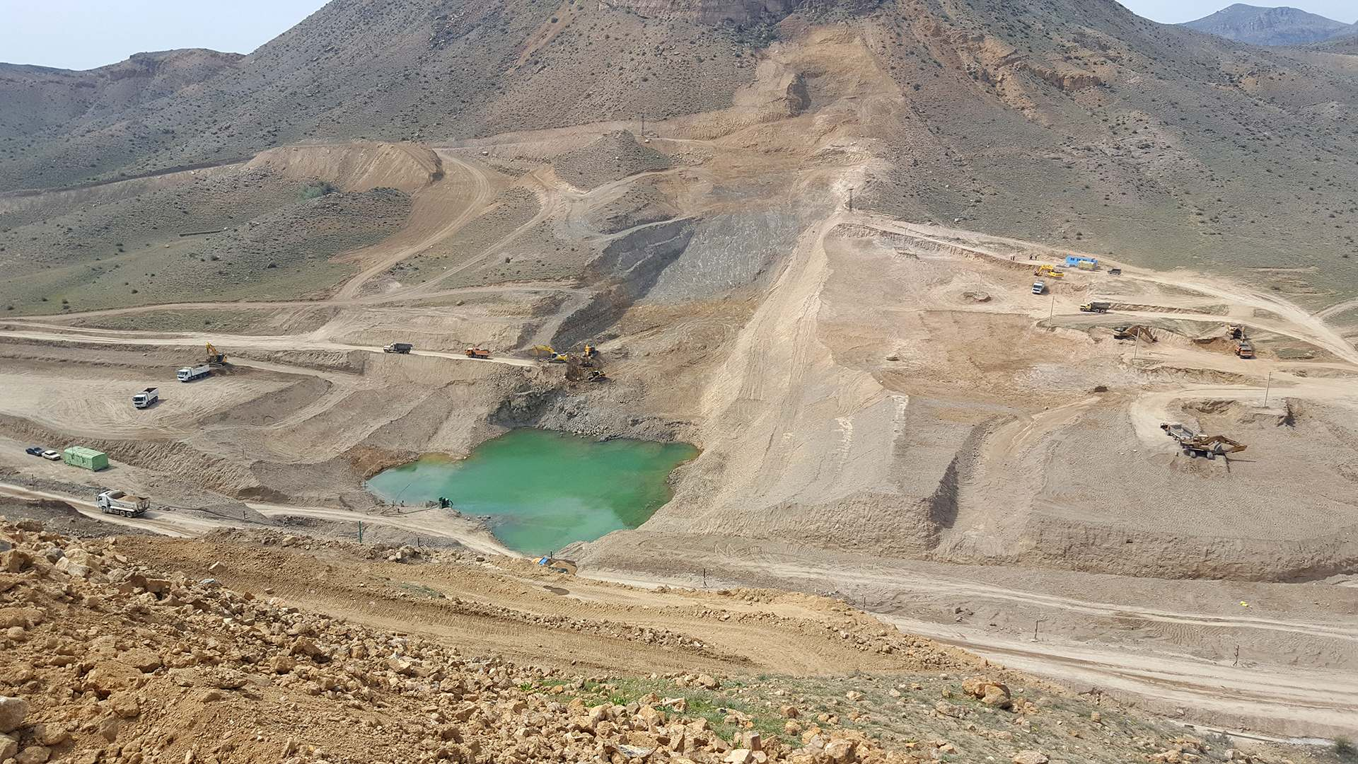 Construction of Vedi Reservoir and Irrigation System